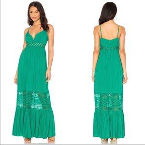 BB DAKOTA pepper green maxi dress